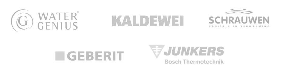 Water Genius, Kaldewei, Schrauwen NV, Geberit, Junkers